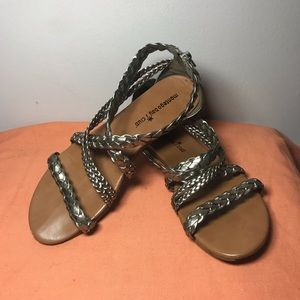 Montego Bay Club Silver/Gold Gladiator Sandals